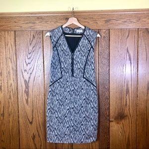 Rebecca Taylor Gray and Black Career Dress